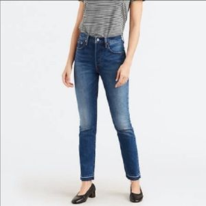 Levi's 501 High Rise with Raw Hem Skinny Jeans
